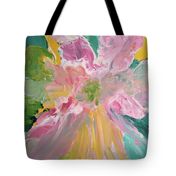 Pretty In Pastels Tote Bag by Karen Nicholson