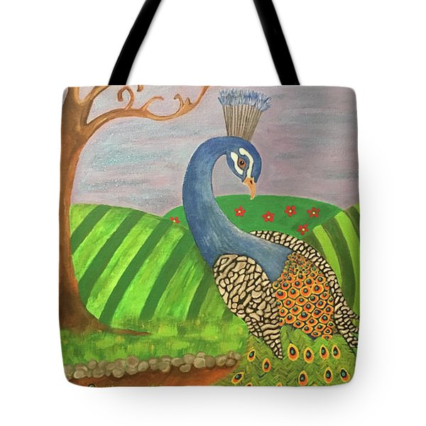 Pretty In Peacock Tote Bag