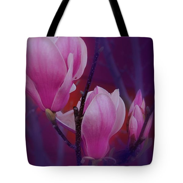 Tote Bag featuring the photograph Pretty In Pink by Athala Carole Bruckner