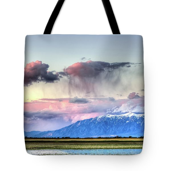 Tote Bag featuring the photograph Pretty In Pink by Bryan Carter