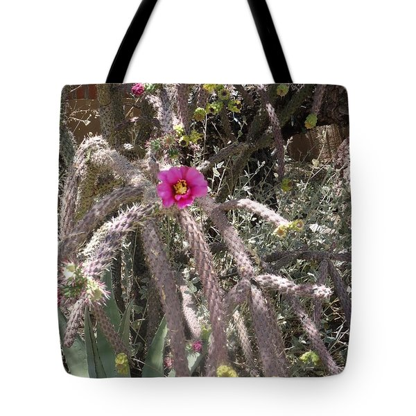 Flower Is Pretty In Pink Cactus Tote Bag