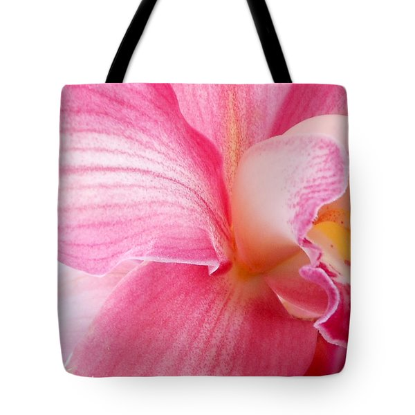 Pretty In Pink Orchid Petals Tote Bag