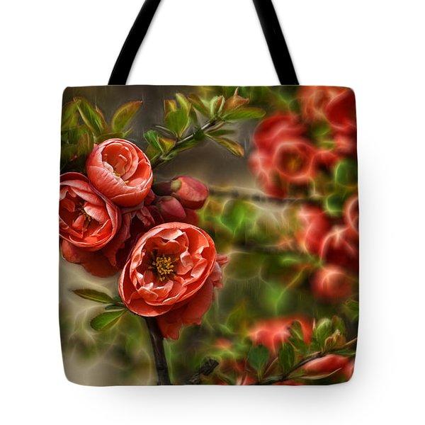 Pretty In Red Tote Bag