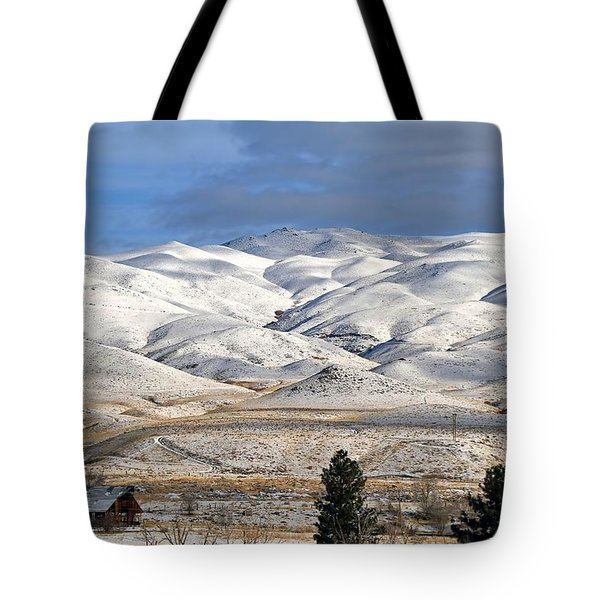 Tote Bag featuring the photograph Pretty In White by Donna Kennedy
