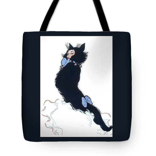 Tote Bag featuring the digital art Pretty Kitty by ReInVintaged