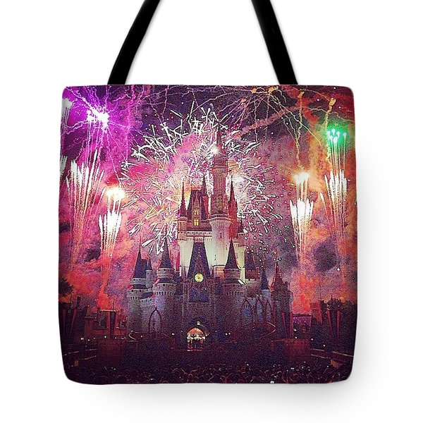 The Happiest Place On Earth  Tote Bag by Kate Arsenault