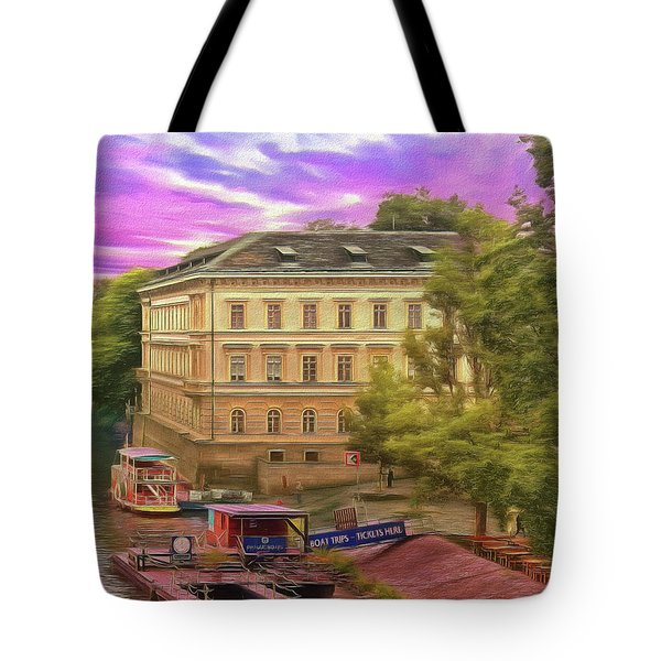 Pretty On The River - Prague Tote Bag