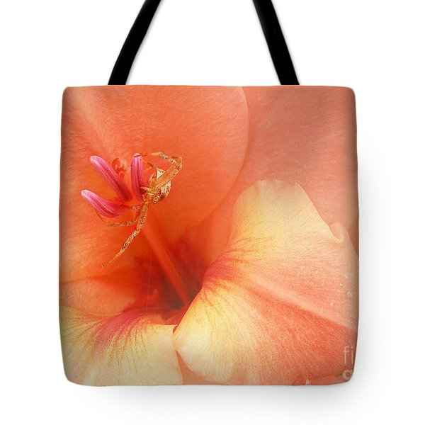 Tote Bag featuring the photograph Pretty Orange Petals by Kathi Mirto