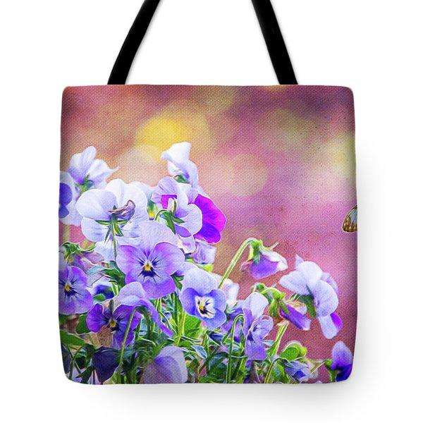 Pretty Pansies Tote Bag