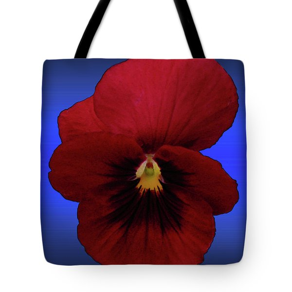 Tote Bag featuring the photograph Pretty Pansy by Donna Brown