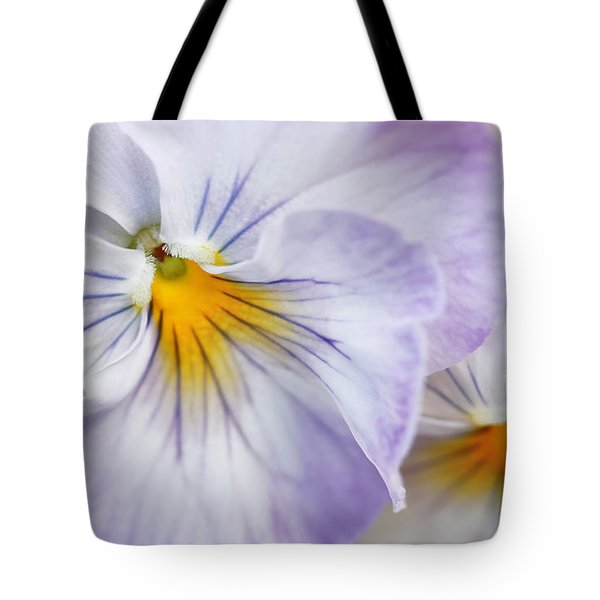 Pretty Pansy Flowers Tote Bag by Jennie Marie Schell