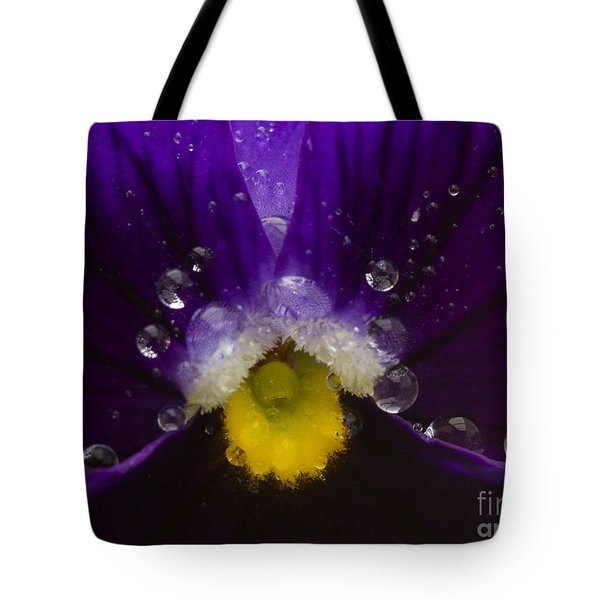 Pretty Pansy Tote Bag by Ian Mitchell
