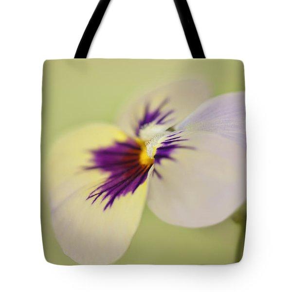 Pretty Pansy Macro Tote Bag