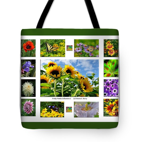 Pretty Petals Collection I Tote Bag by Diane E Berry