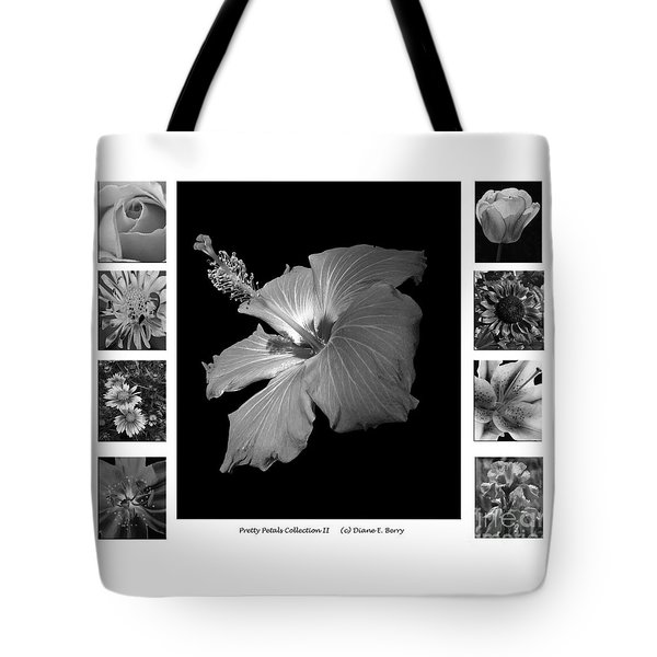 Pretty Petals Collection II Tote Bag by Diane E Berry