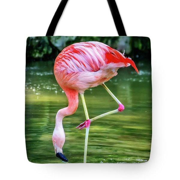 Pretty Pink Flamingo Tote Bag