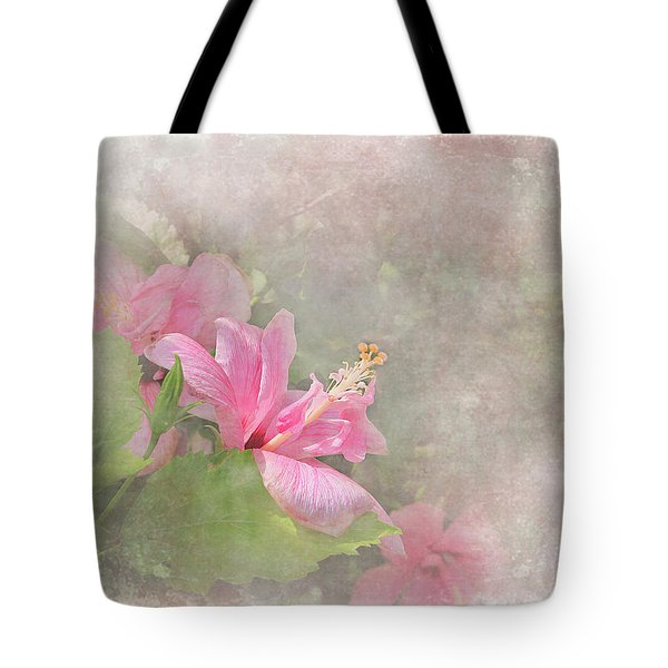 Pretty Pink Hibiscus Tote Bag