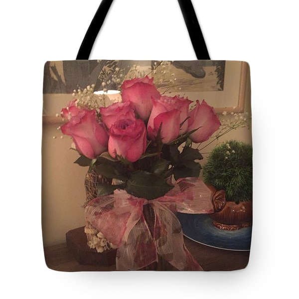 Tote Bag featuring the photograph Pretty Pink by Paula Brown