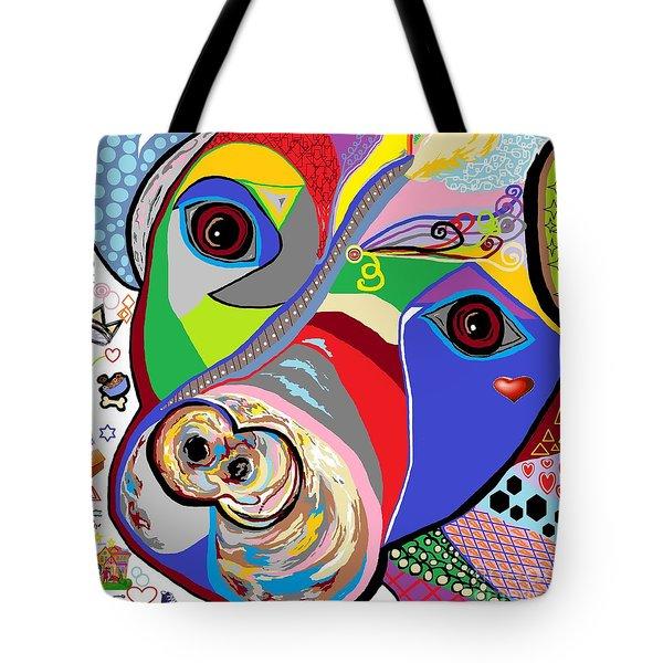 Pretty Pitty Tote Bag by Eloise Schneider