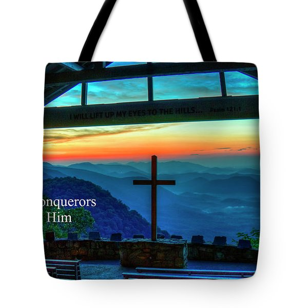 Pretty Place Chapel Through Him Art Tote Bag