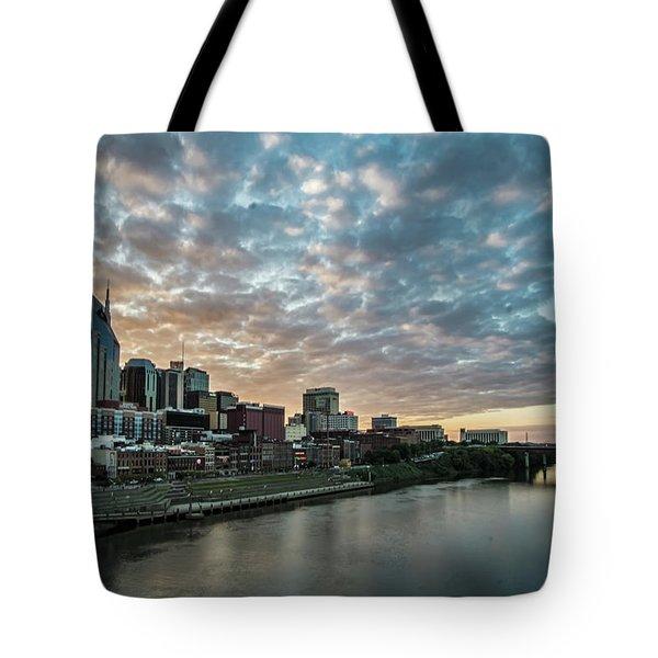 Pretty Sky And Nashville Skyline Tote Bag