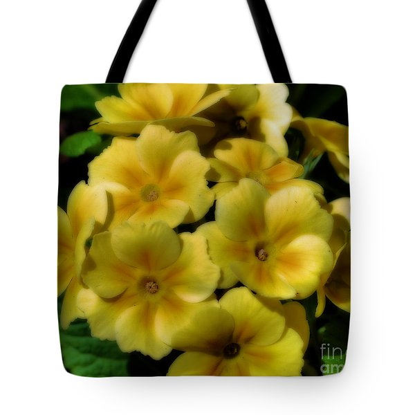 Pretty Yellow Primrose Tote Bag