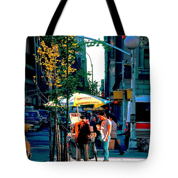 Hot Dog Stand Nyc Late Afternoon Ik Tote Bag