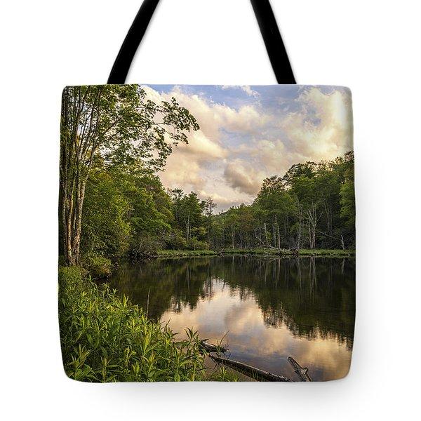 Price Lake Sunset - Blue Ridge Parkway Tote Bag