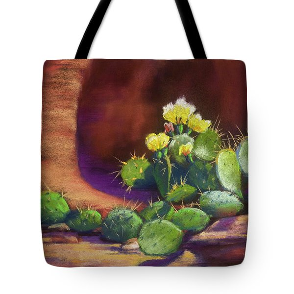 Pricklies On A Ledge Tote Bag