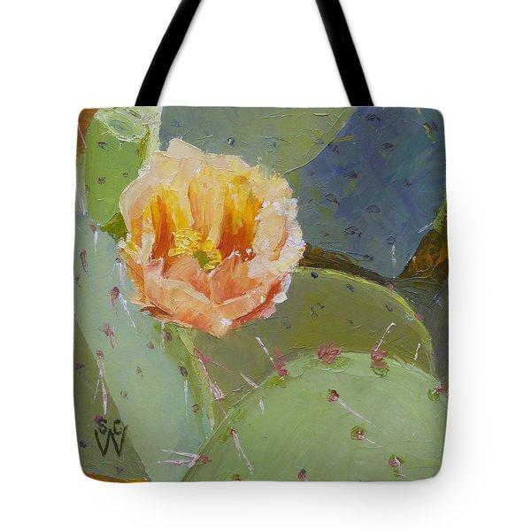Prickly Pear Blossom Tote Bag