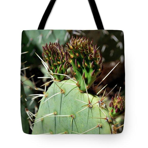Prickly Pear Buds Tote Bag