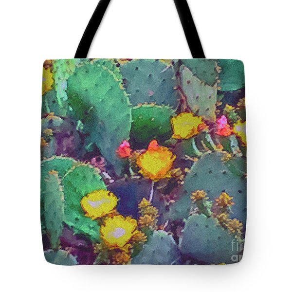 Prickly Pear Cactus 2 Tote Bag by Methune Hively