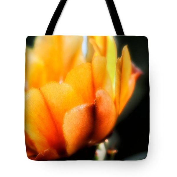 Tote Bag featuring the photograph Prickly Pear Flower by Lynn Geoffroy
