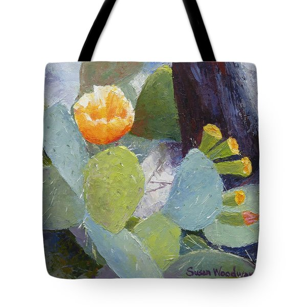 Prickly Pear In Bloom Tote Bag