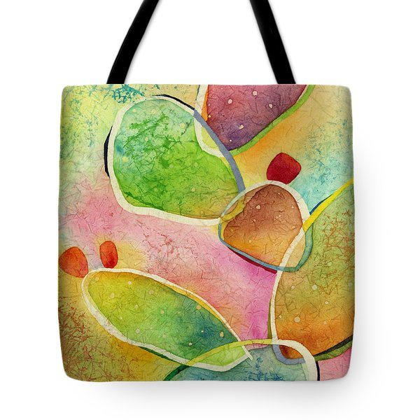 Tote Bag featuring the painting Prickly Pizazz 1 by Hailey E Herrera