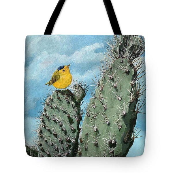 Prickly View - Wildlife Painting Tote Bag