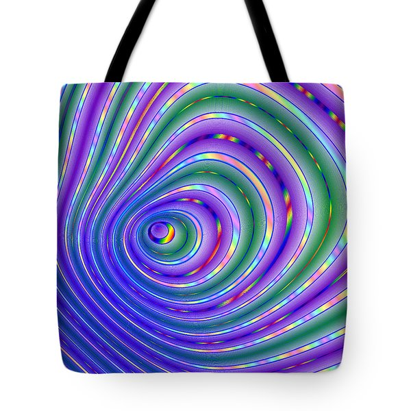 Tote Bag featuring the digital art Pride Grooves 18 by Brian Gryphon