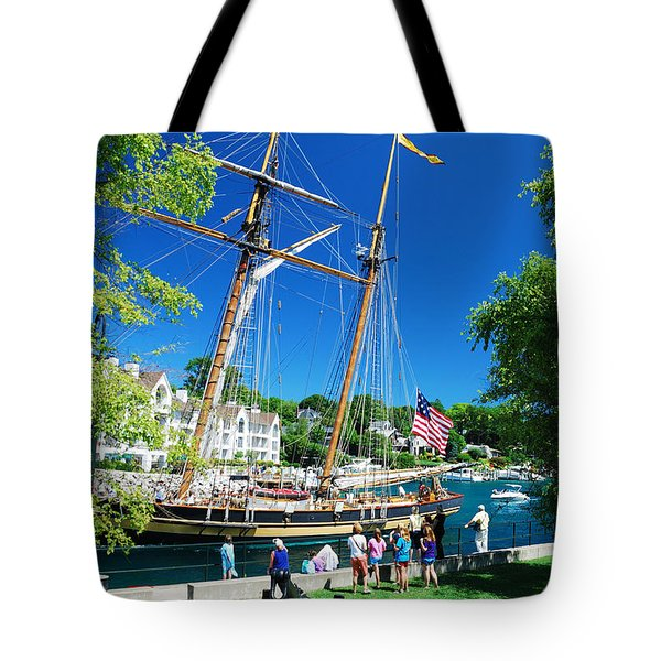 Pride Of Baltimore No. 1 Tote Bag by Janice Adomeit