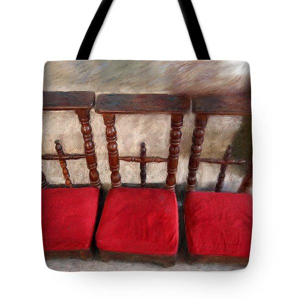 Prie Dieu - Prayer Kneeler Tote Bag by Enzie Shahmiri
