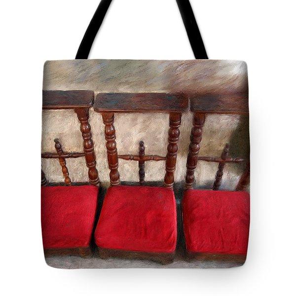 Prie Dieu - Prayer Kneeler Tote Bag