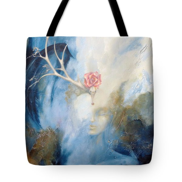 Tote Bag featuring the painting Priestess by Dina Dargo