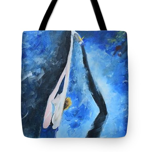 Tote Bag featuring the painting Prima Ballerina #1 by Gary Smith