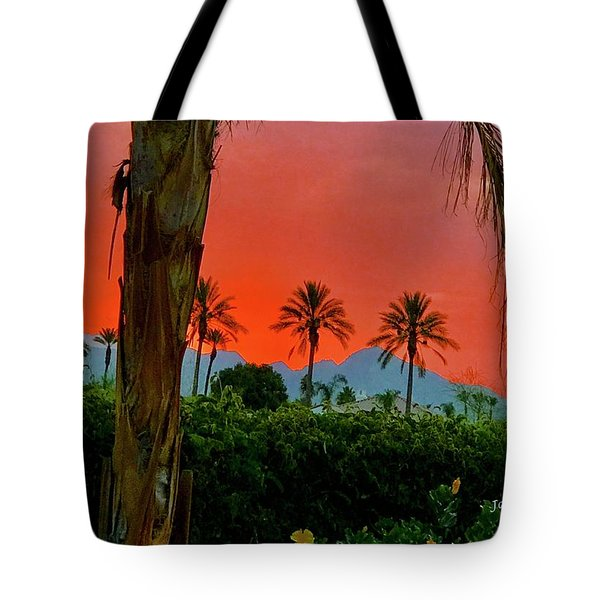 Primary Desert Sunset Tote Bag by Jack Eadon