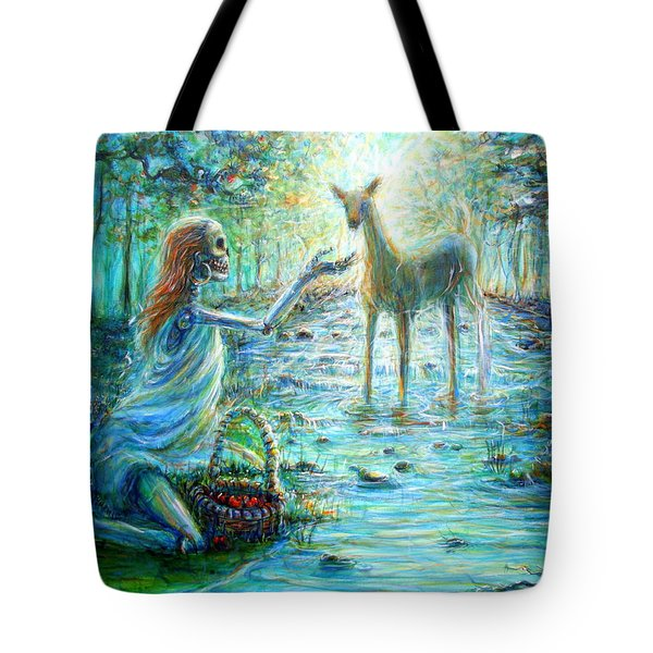 Tote Bag featuring the painting Primavera Forest Of New Life by Heather Calderon