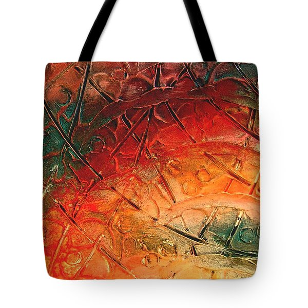 Primitive Abstract 1 By Rafi Talby Tote Bag by Rafi Talby