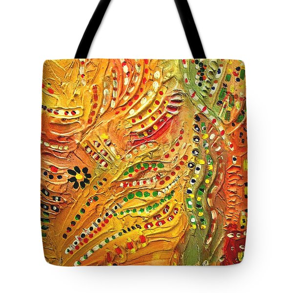 Primitive Abstract 3 By Rafi Talby Tote Bag by Rafi Talby