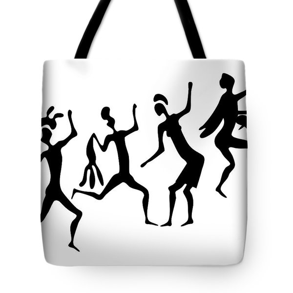 Primitive Art - Various Figures Tote Bag by Michal Boubin