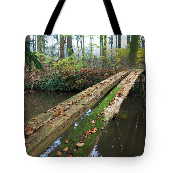 Tote Bag featuring the photograph Primitive Bridge by Hans Engbers