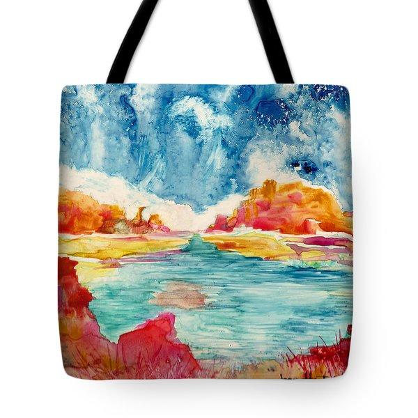 Primordial Landscape Tote Bag