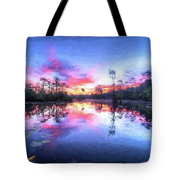 Tote Bag featuring the photograph Primordial Sunrise by JC Findley